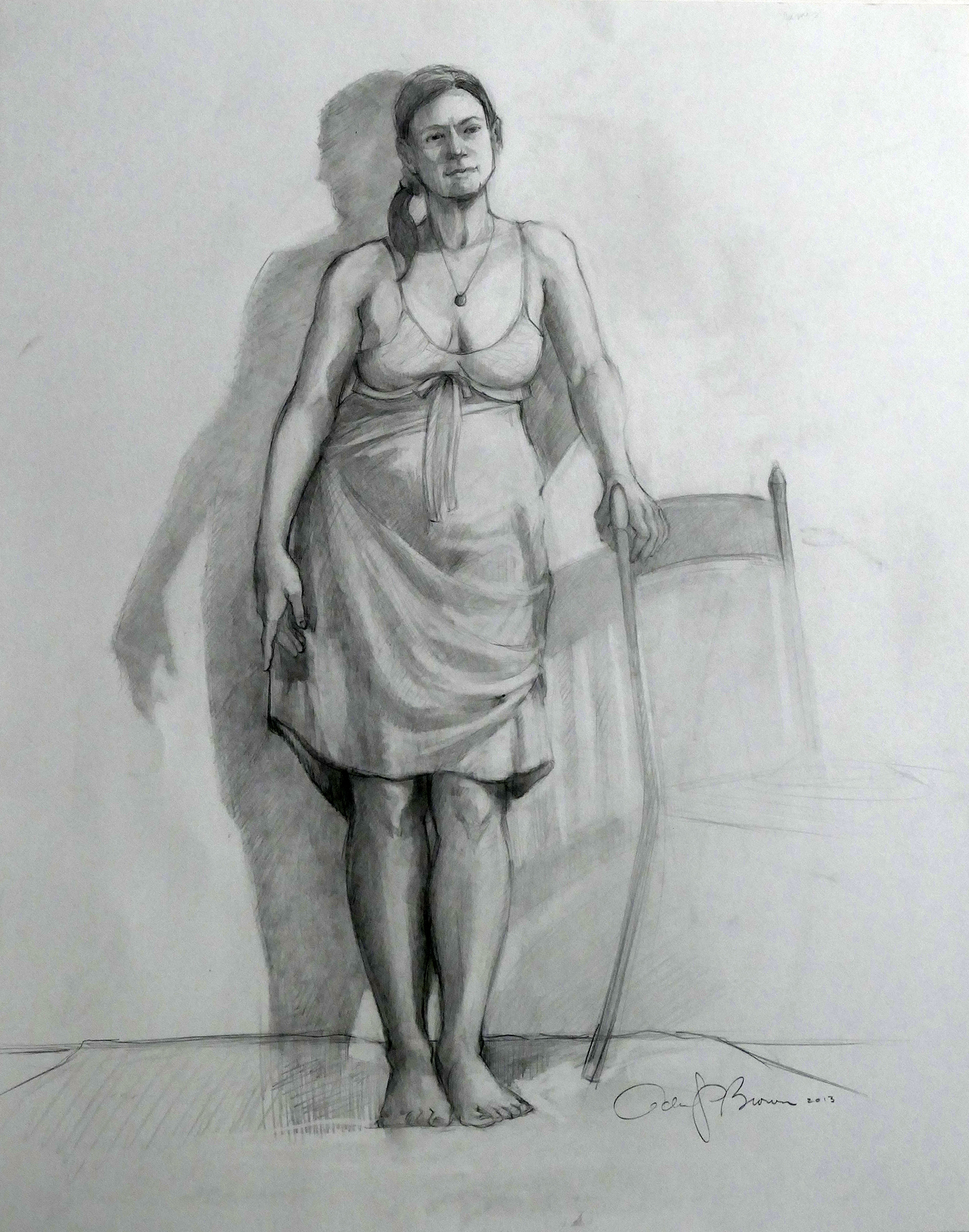 Lynn , graphite on paper, 24 x 18 in.
