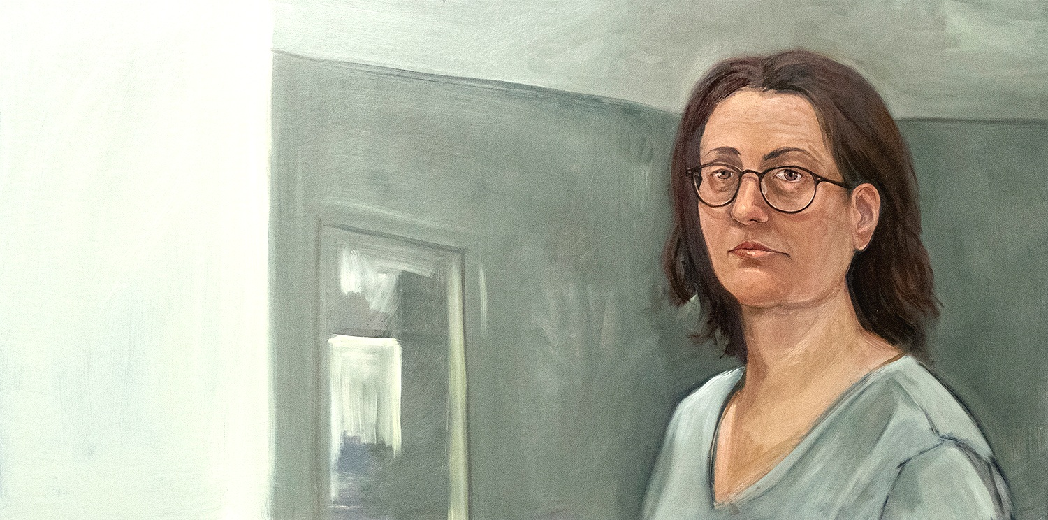 Self-portrait 2016-7,  oil on canvas, 24 x 40 in