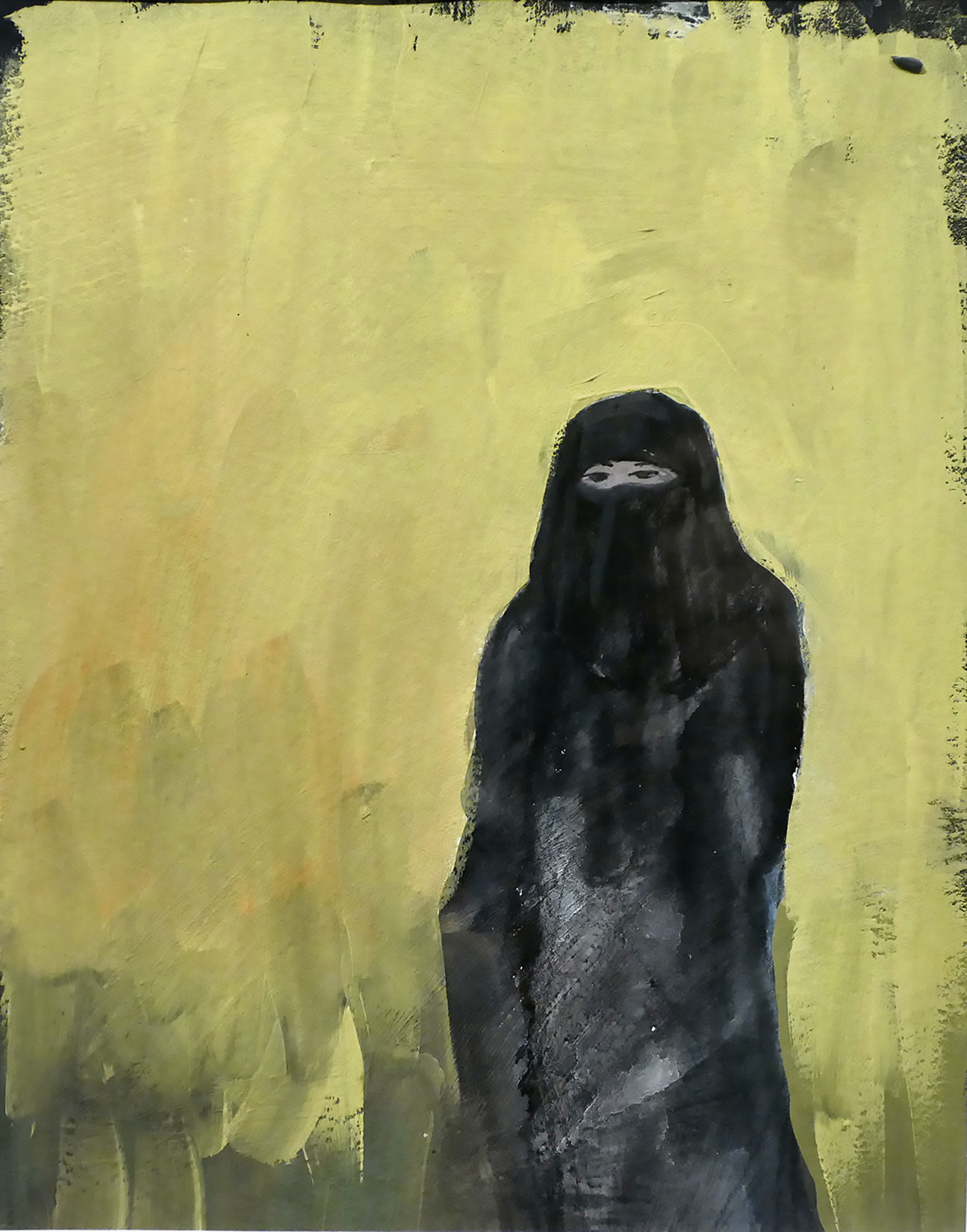 Niqab , gouache on paper, 12 x 9 in.