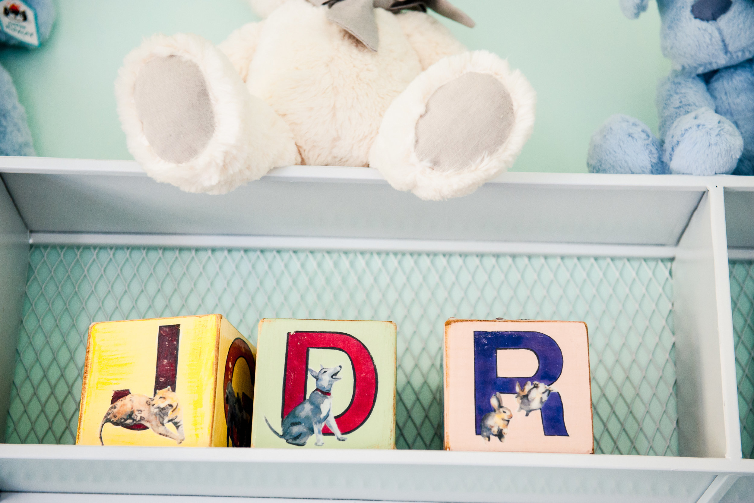 """4""""x4""""x4"""" painted wooden blocks"""