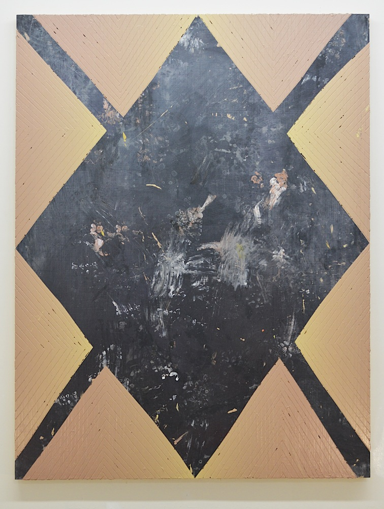 Untitled  Acrylic, spray paint on panel  64 x 48 in  2014