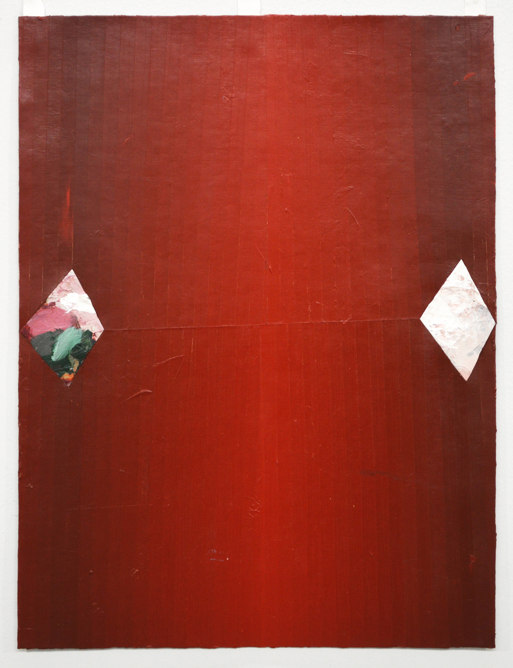 Untitled  Acrylic, styrofoam on canvas  24 x 18 in  2014