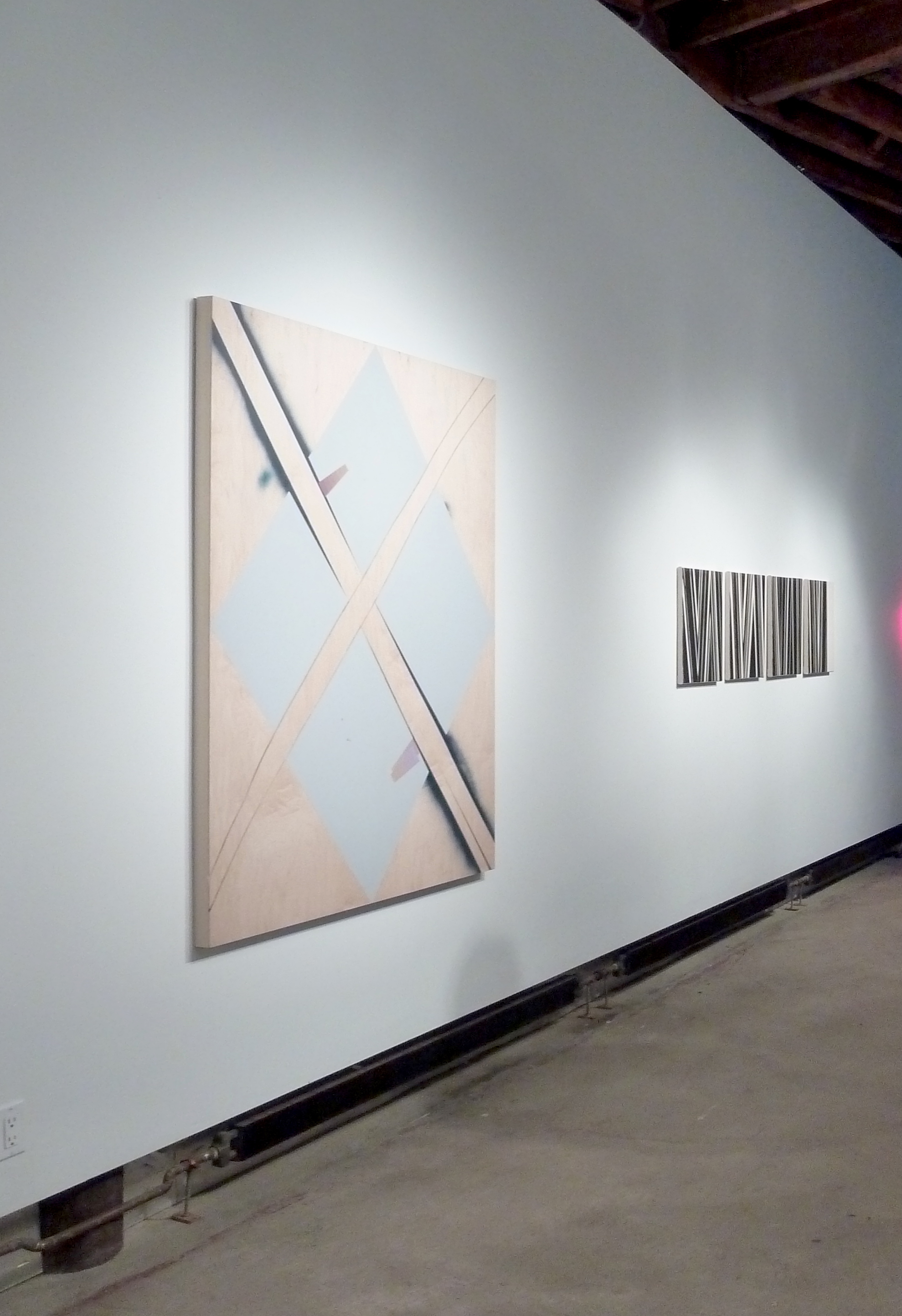 Rafael Vega (left), David Rhodes (right).  Signature Works , Guided by Invoices Gallery, New York, NY. 2013. Photo: Rafael Vega