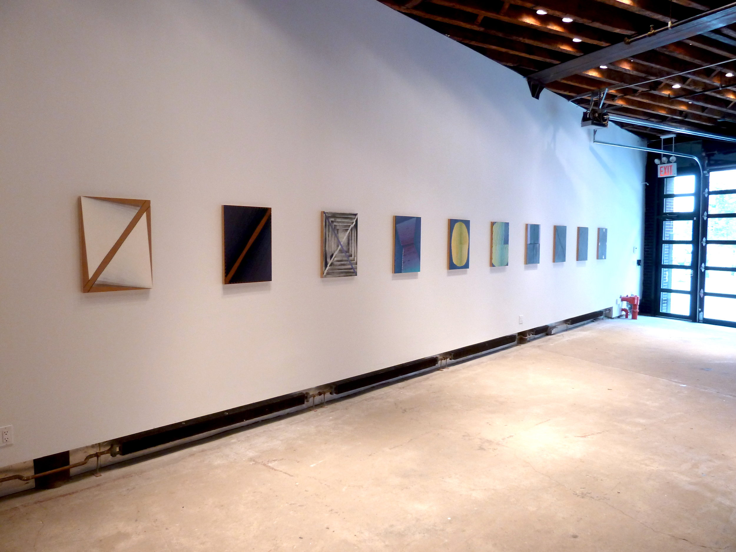 Solo show at Guided by Invoices Gallery, New York, NY. 2012. Photo: Rafael Vega