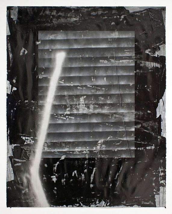Untitled  Acrylic, enamel, spray paint, silicon caulk on paper  65 x 50 in  2010