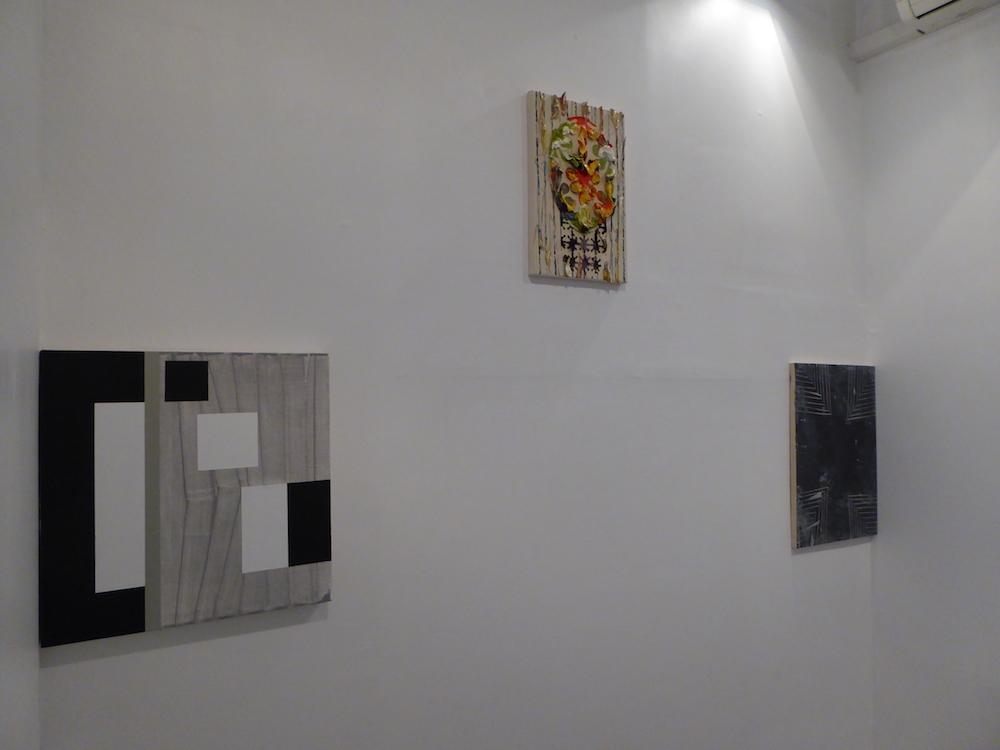 Left to right: Gary Stephan, Dennis Hollingsworth, Rafael Vega, Hionas Gallery, New York, NY. 2017. (Photo: Rafael Vega)