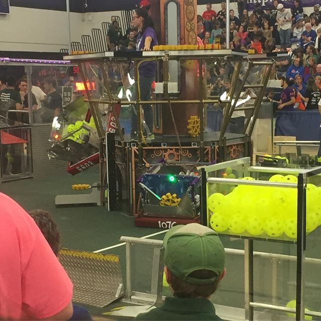 Our robot in match 18 getting the win!