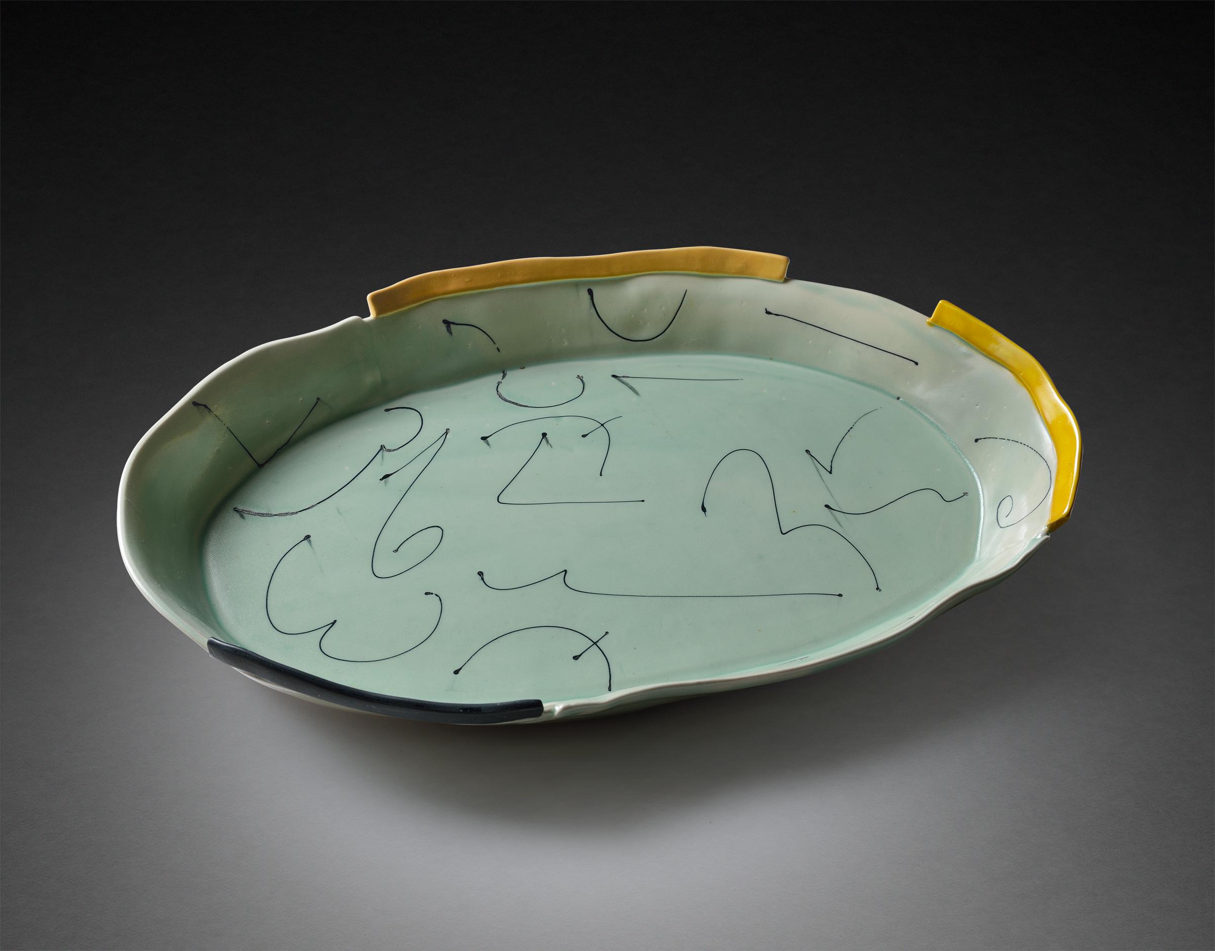 Aqua Oval Platter
