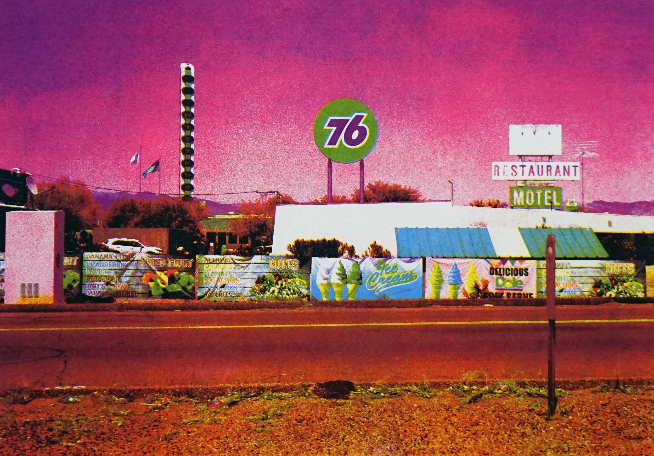 """76 In Las Vegas""     Screenprint  44 x 30.5"