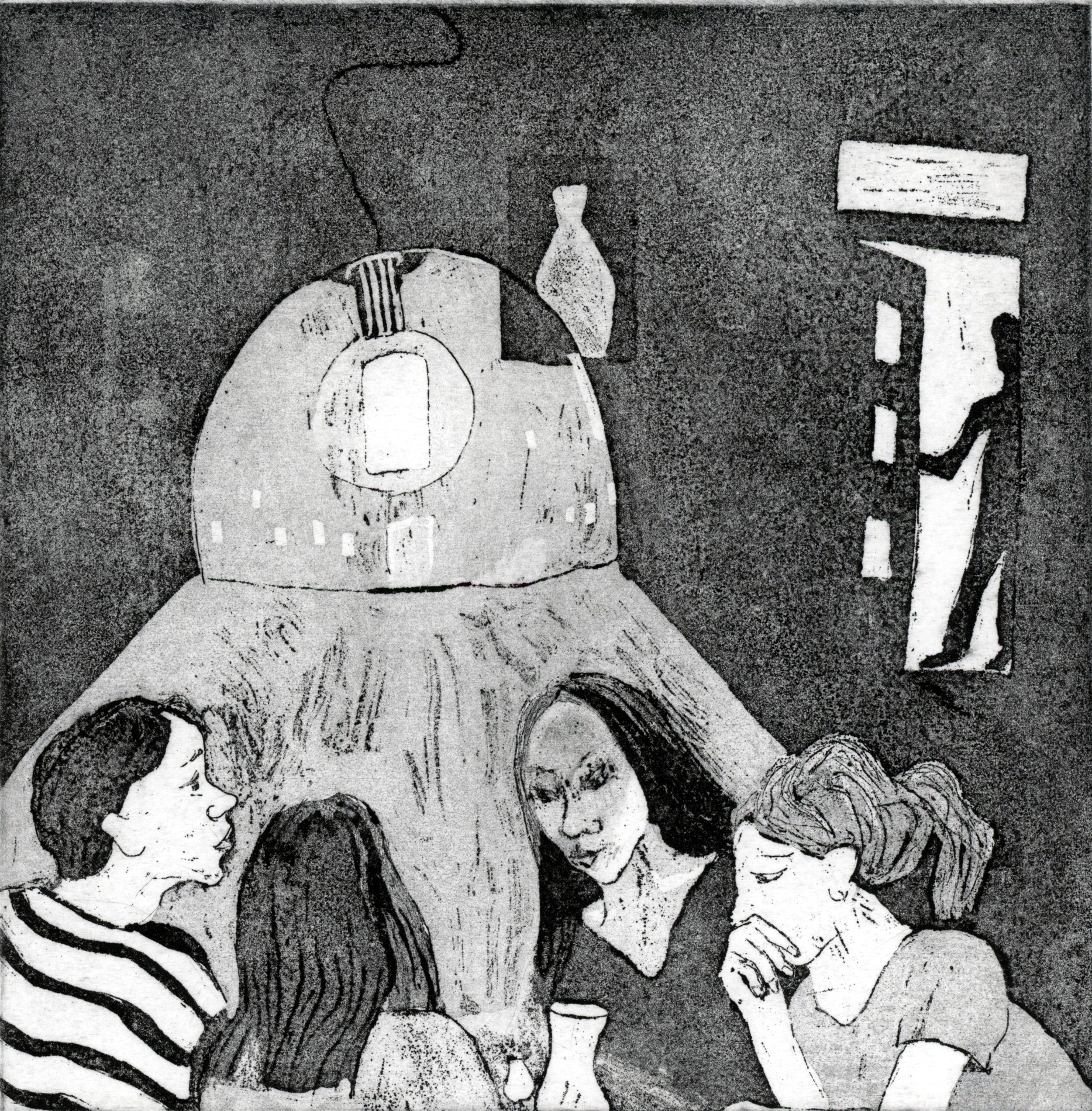 A Dinner Party   Etching,Edition of 5