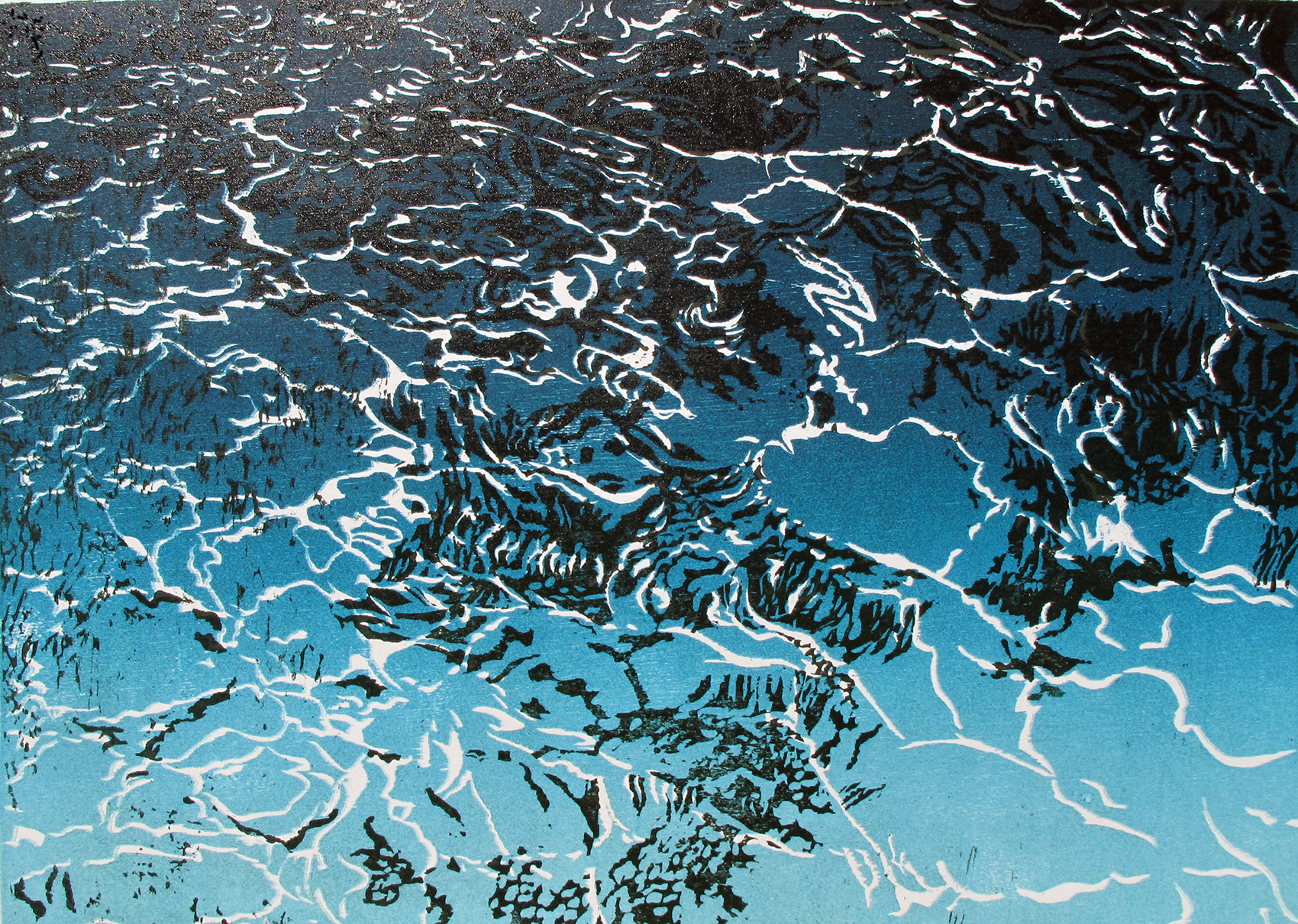 Venessa Pugh  Refractions   Woodcut