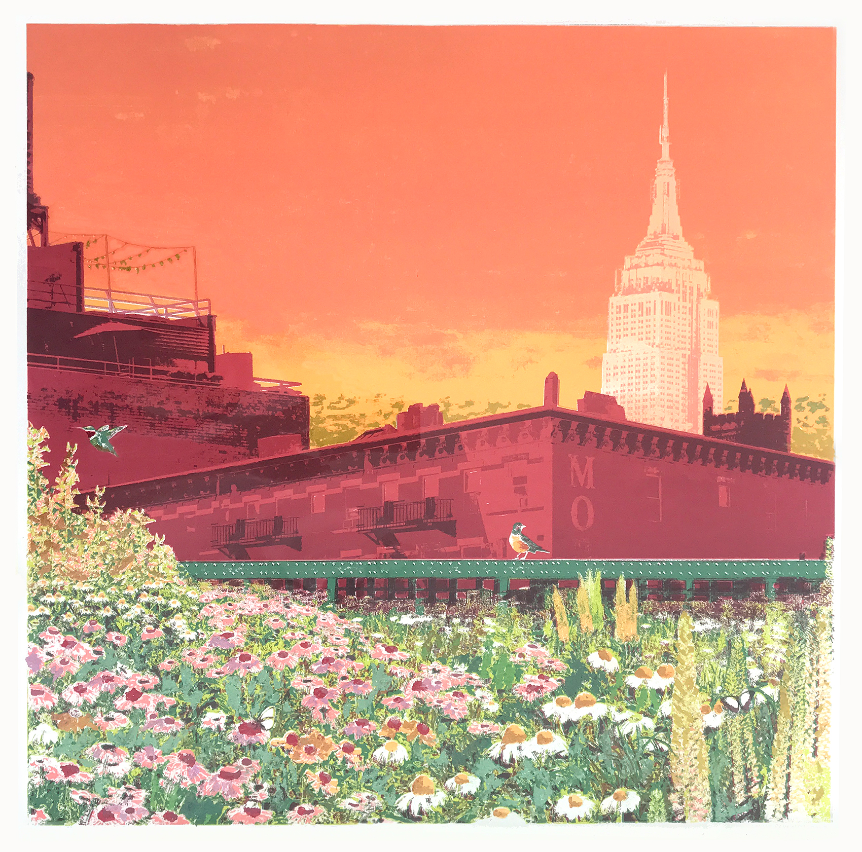 An Empire State of Mind   Screenprint