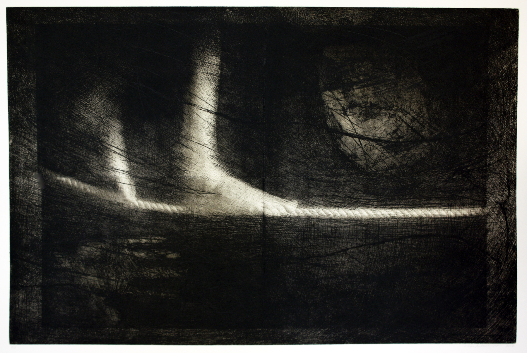 Tightrope   Etching and photopolymer gravure
