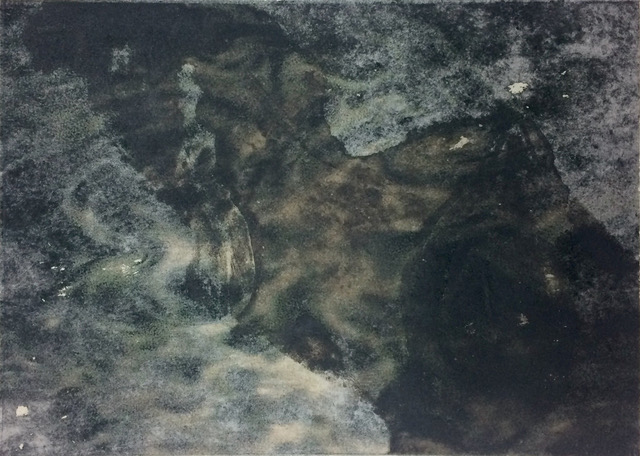 Under everchanging forms IV   Etching & Chine Colle