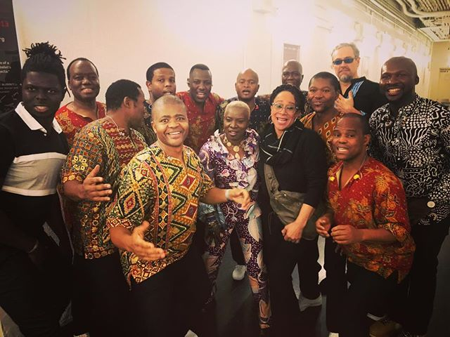 Yesterday after an amazing show at the @harristheaterchicago with Ladysmith Black Mambazo, my band @yayo_serka @magatte_fall_official @michaelolatuja Dominic James @flymyspcshp and my dear dear friend @merk2577 !!!!