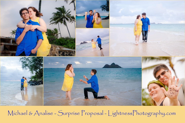 romantic couples portrait sunrise beach oahu