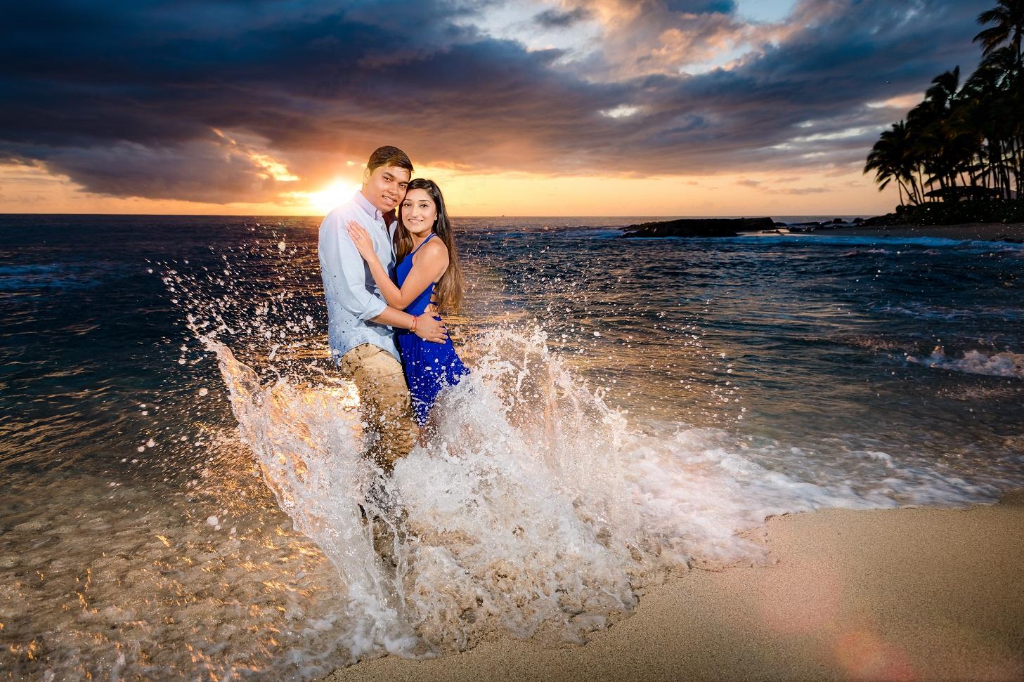 ko olina couples engagement portrait