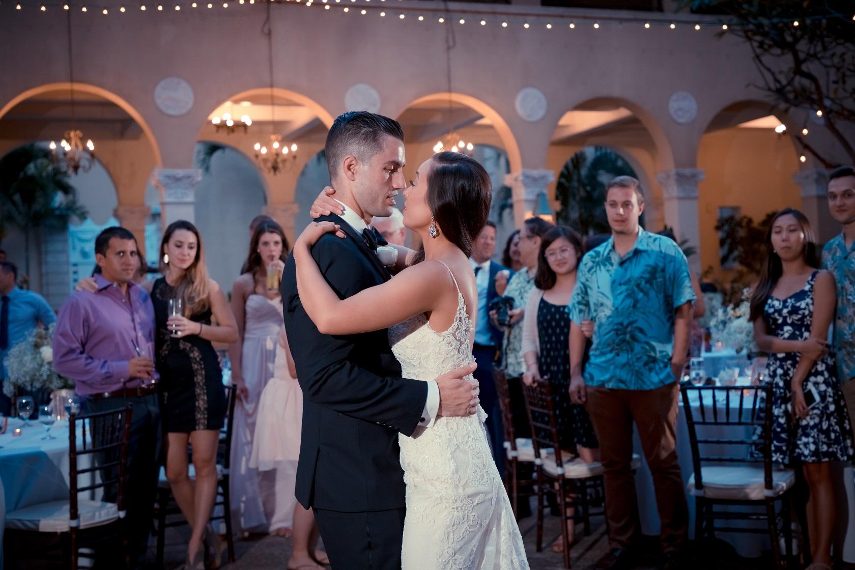 casablanca wedding first dance portrait