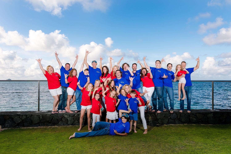 large group family honolulu photographer