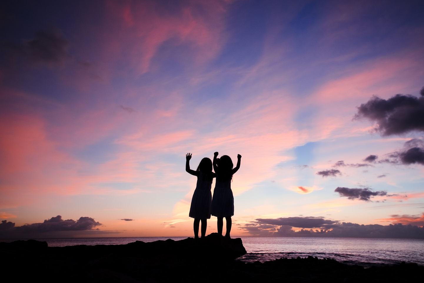 kids family beach photo silhouette ko olina hawaii