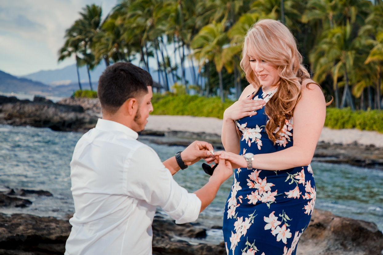 oahu engagement proposal photography