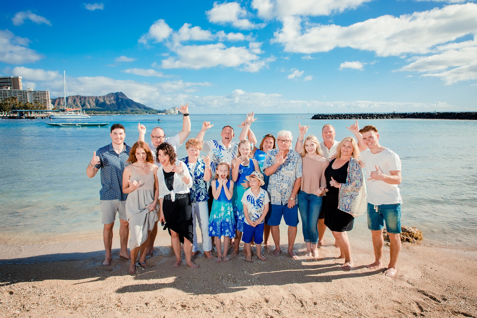family beach photography Hawaiian Hilton Village diamond head