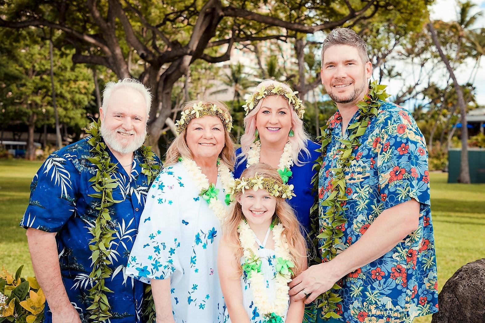 family portrait hale koa resort waikiki oahu