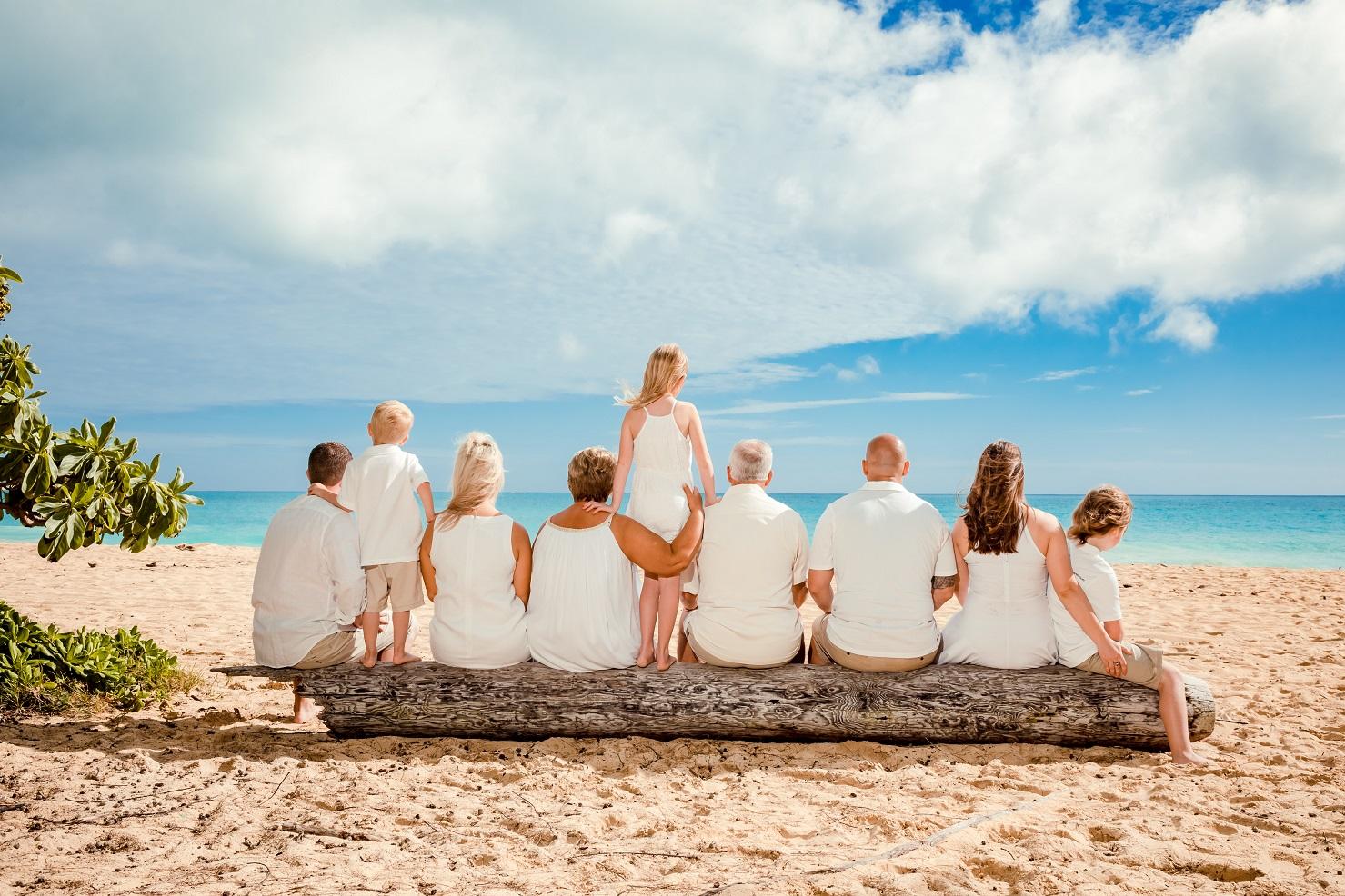 family beach portrait waimanalo oahu hawaii