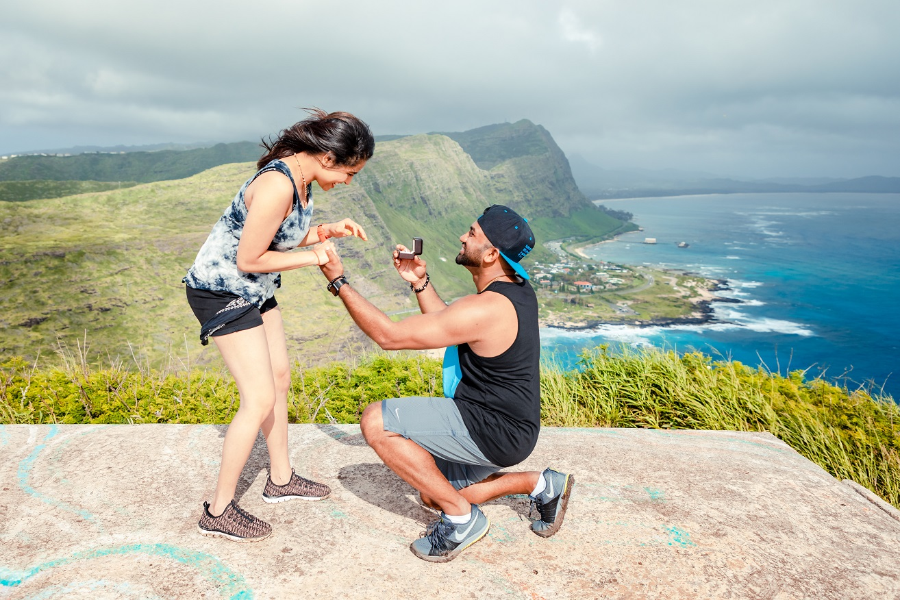 he proposed on a mountain top in hawaii