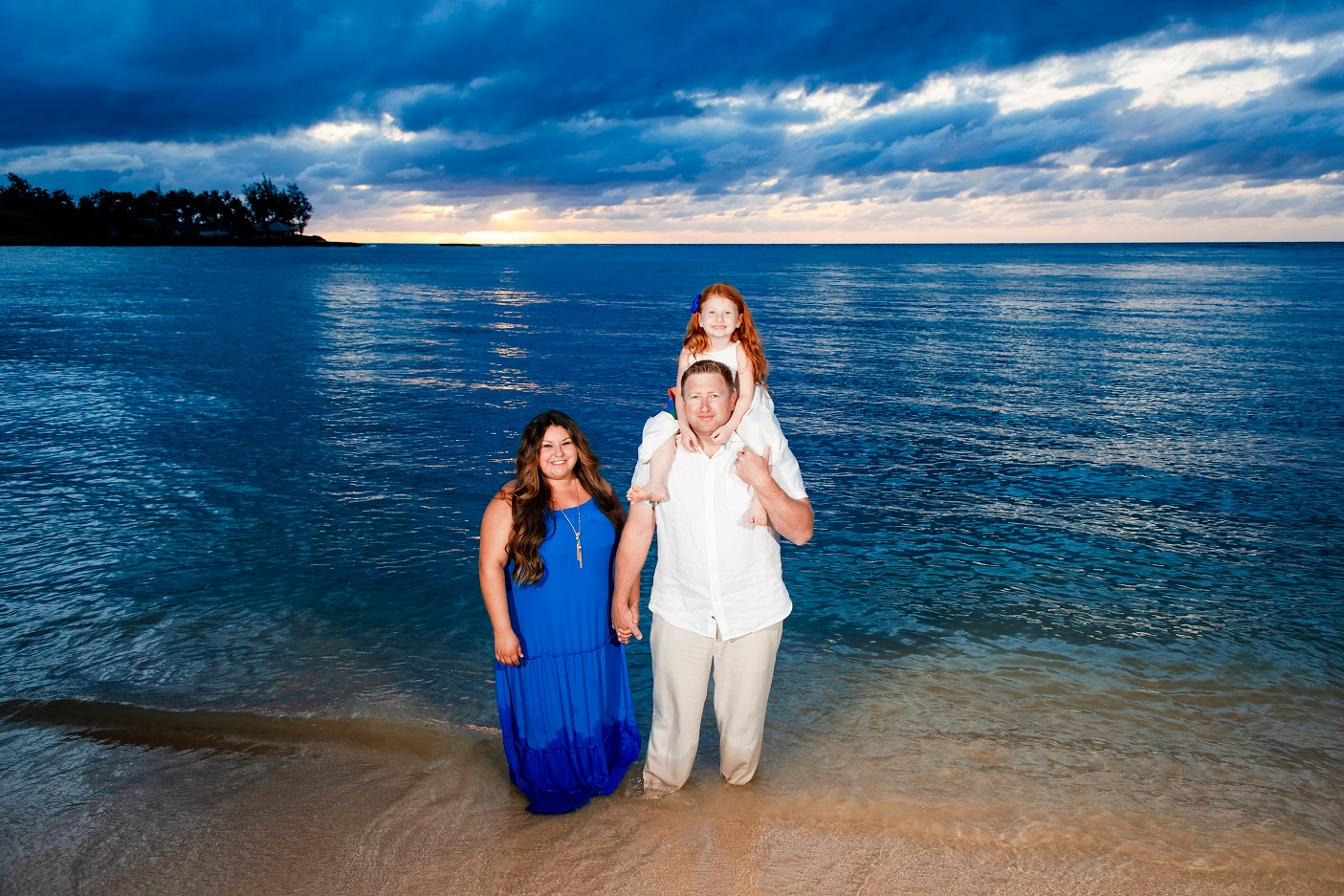 family sunset beach photography turtle bay north shore oahu