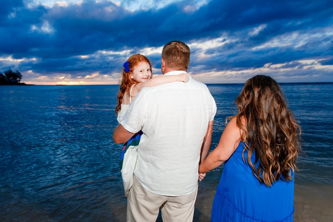 north shore oahu sunset family beach photos