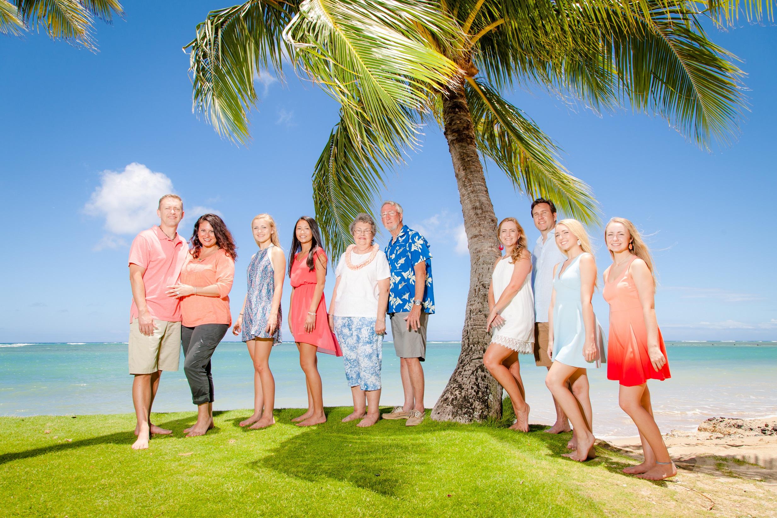family beach portrait oahu hawaii