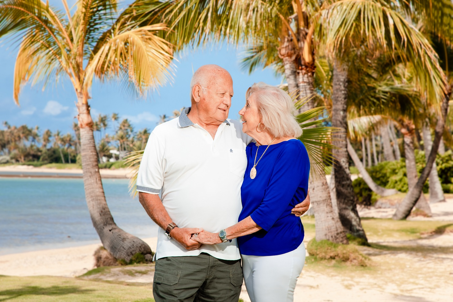 grandpa & grandma beach portrait