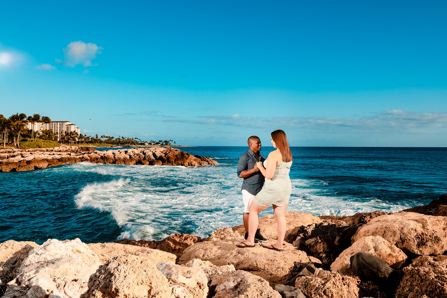 four seasons resort ko olina oahu couples engagement