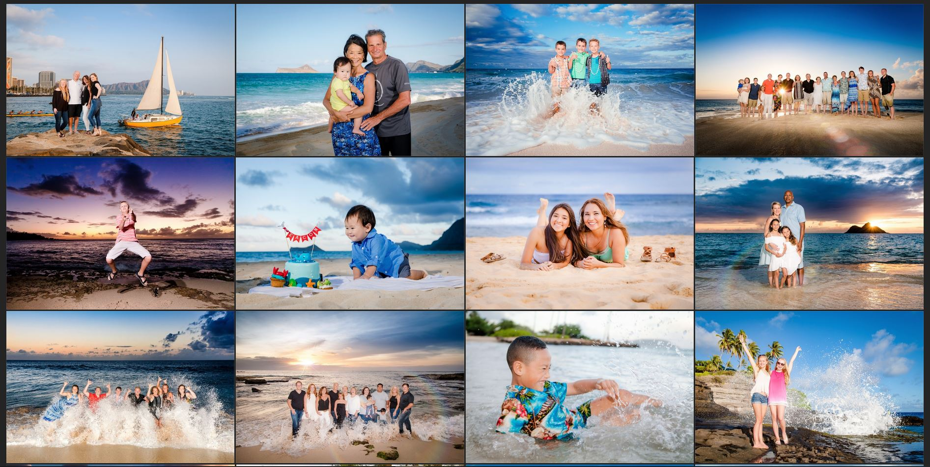 Oahu Hawaii family photographer gallery of images