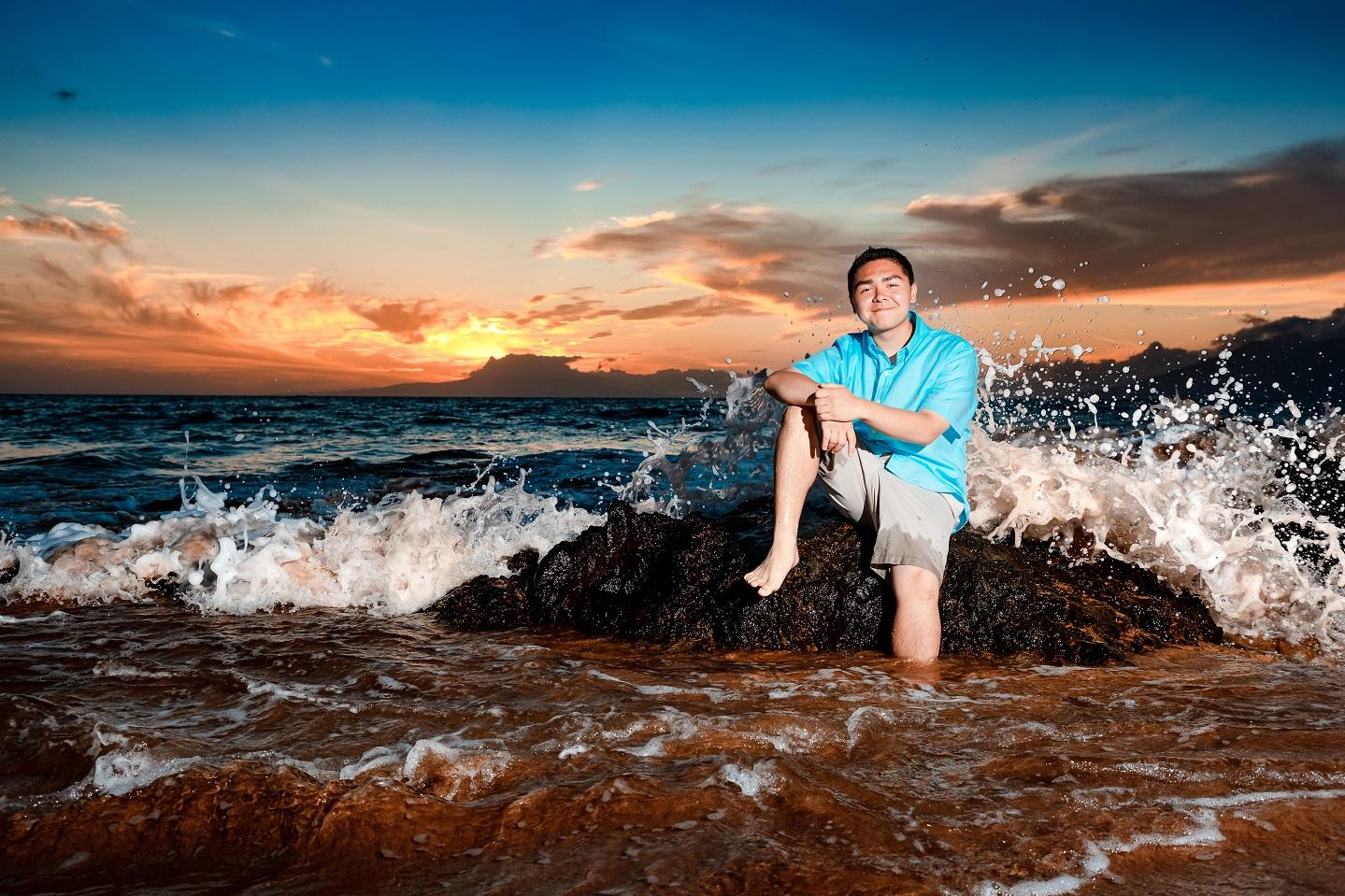 senior portrait family beach sunset photography photos