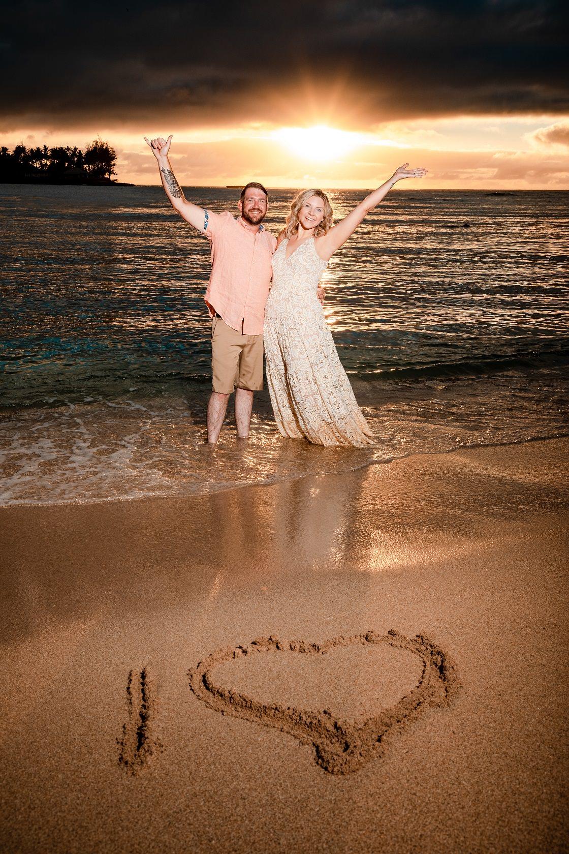 couples 10th anniversary sunset portrait