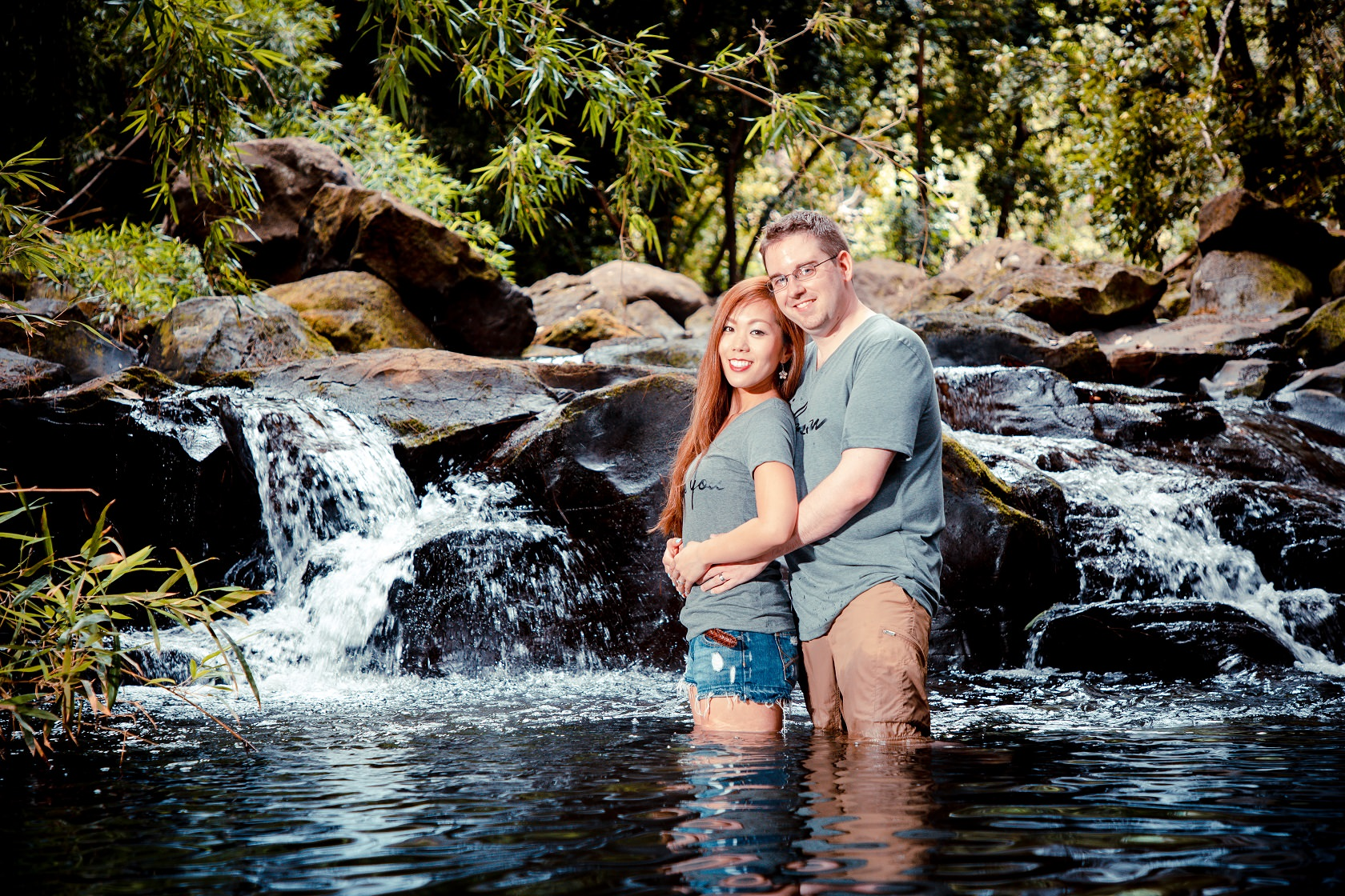 Unique Engagement session, Jackass Ginger Pond