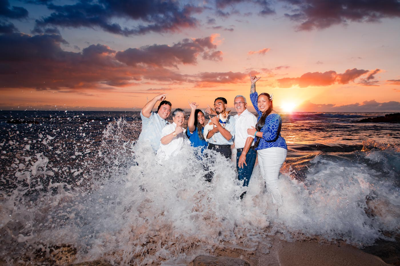 family portrait photographer maui hawaii beach ocean sunset
