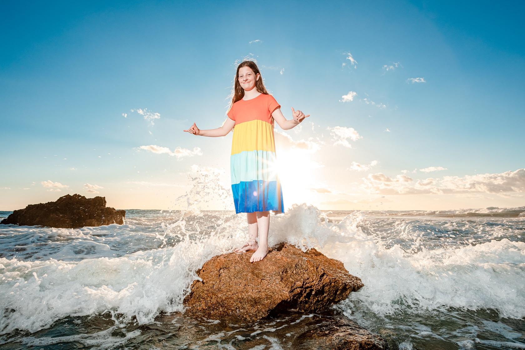 fun family beach photography kauai hawaii photos