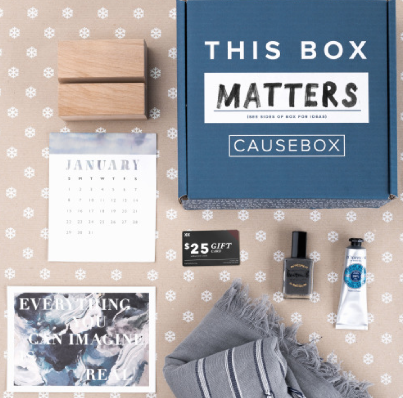 CAUSEBOX is a seasonal subscription box of socially conscious goods.