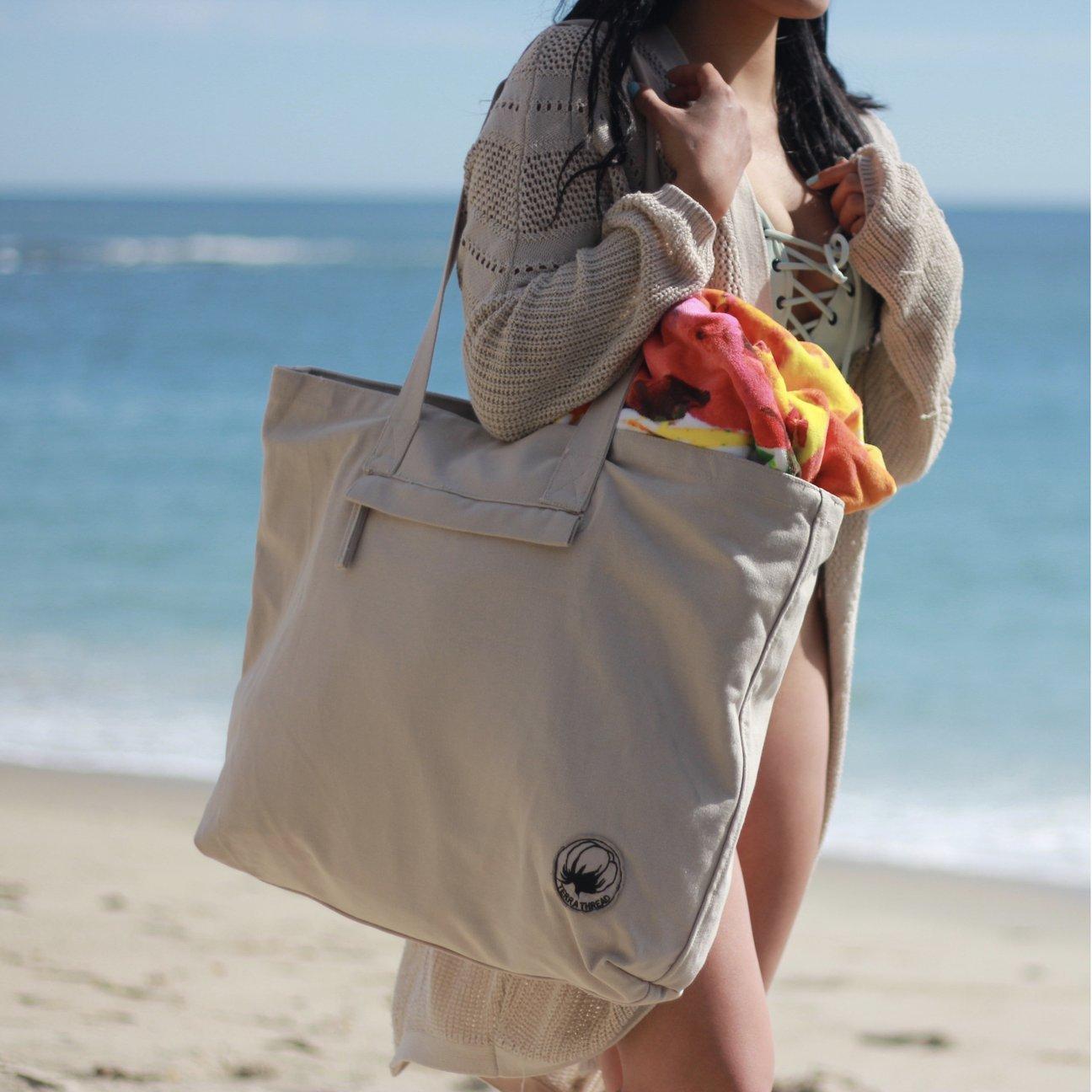 Organic Cotton Beach Bags