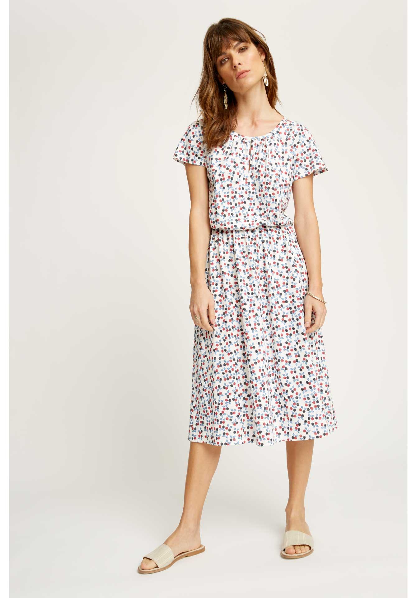 organic cotton berry dress
