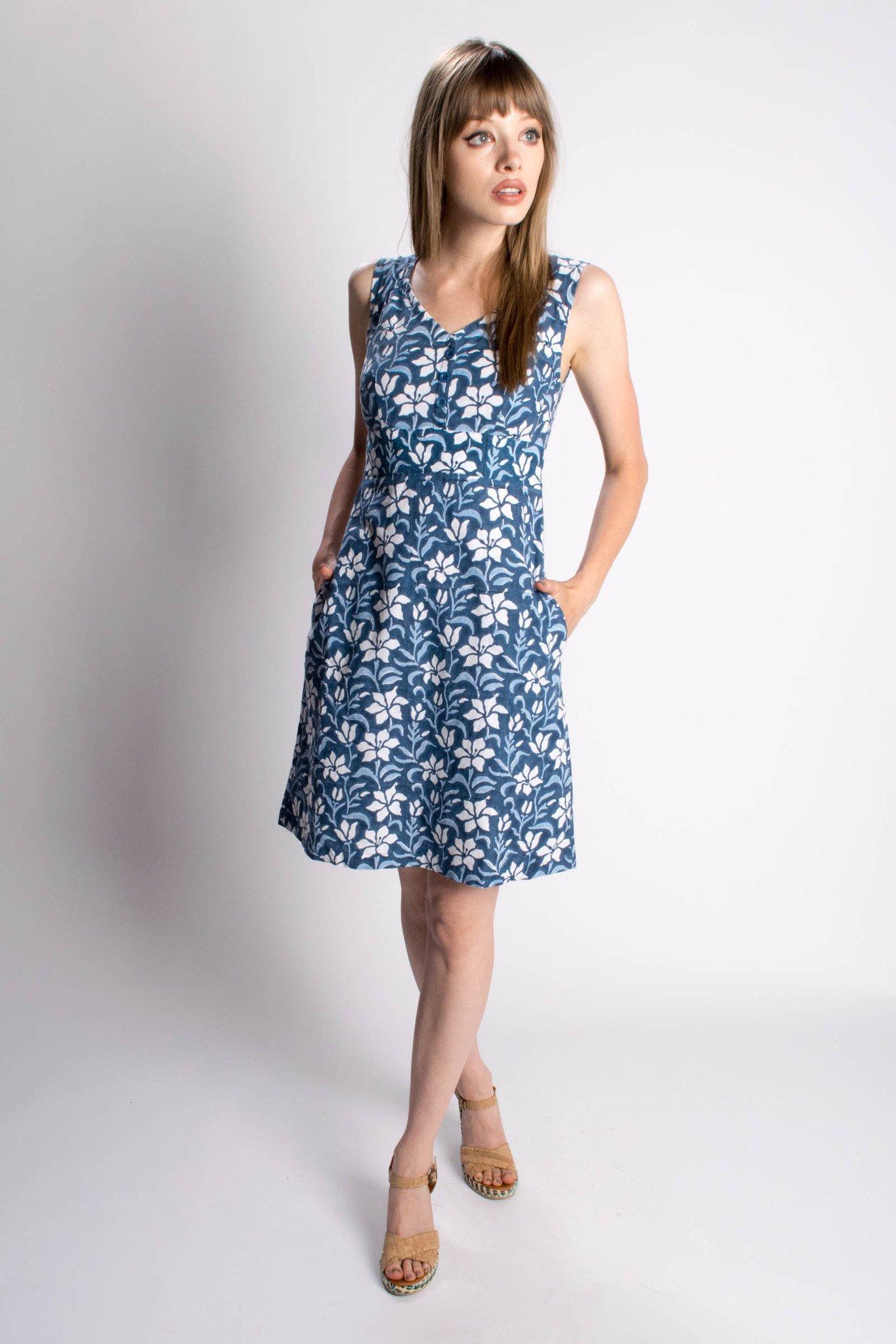 vegan fair trade tropical summer dress