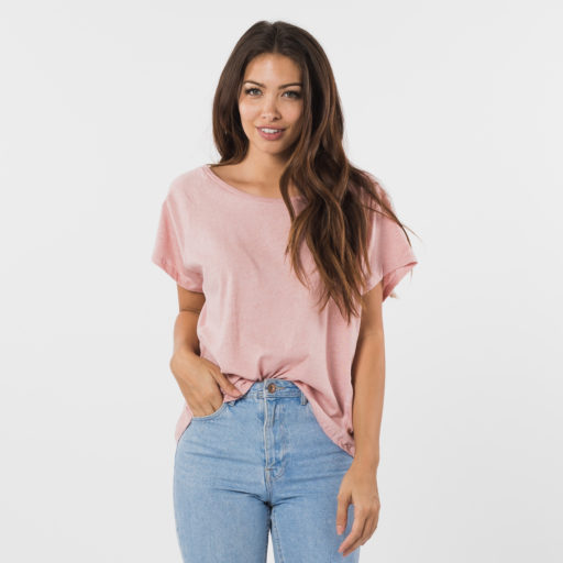 pink ethically made cotton tee