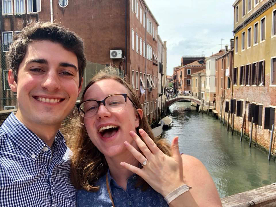 High School Sweethearts Engaged in Venice