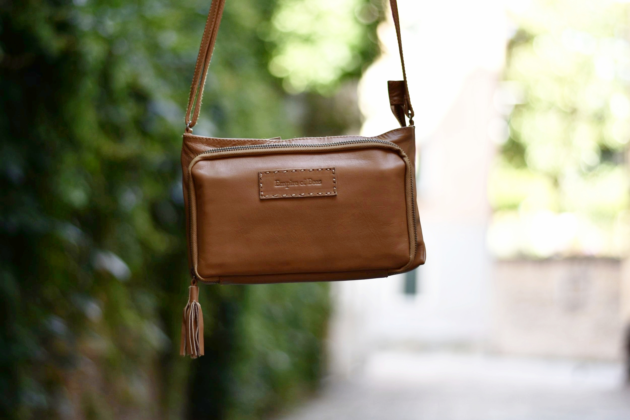 ethically made leather purse