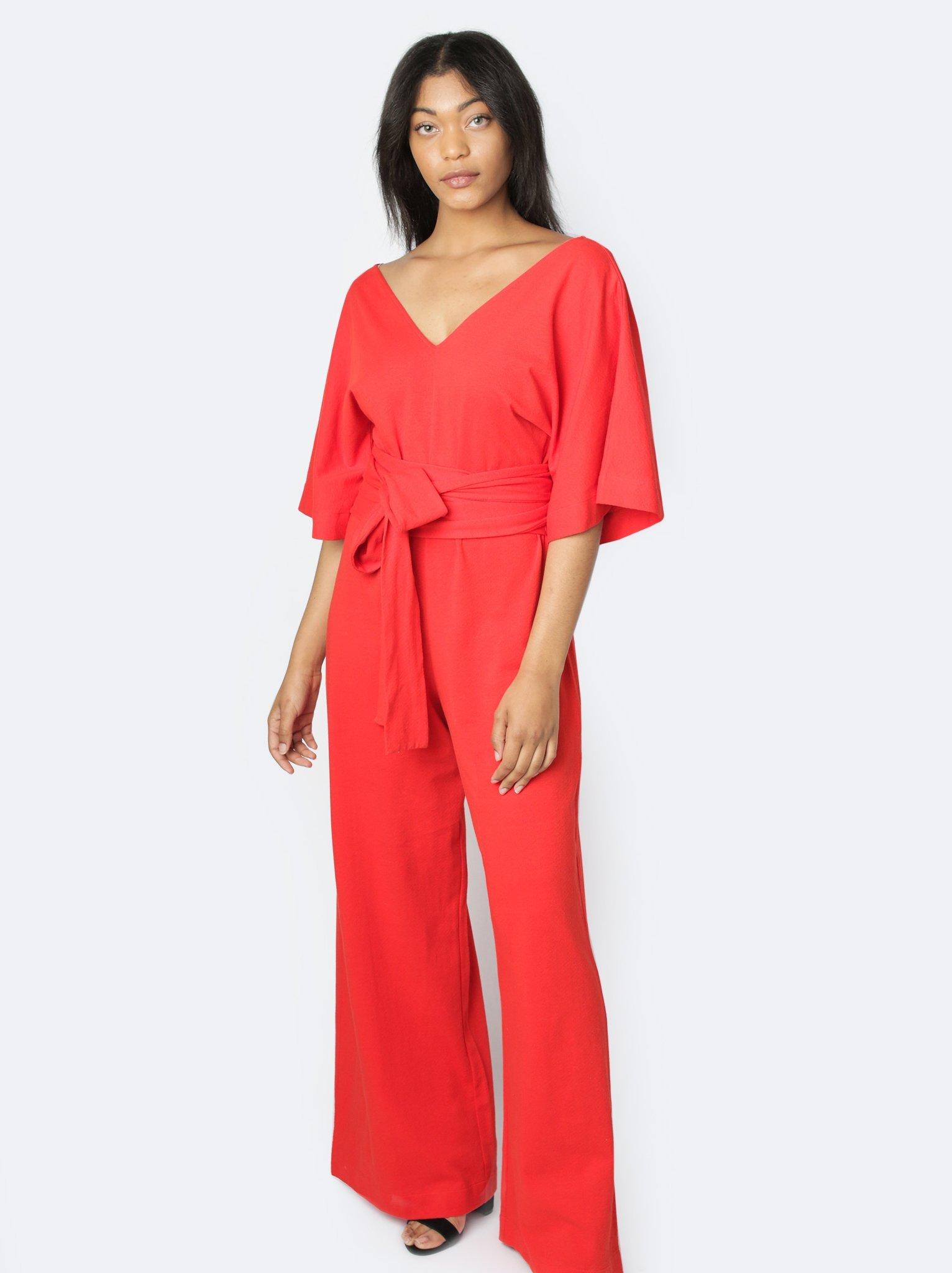 Rosario Flutter Sleeve Jumpsuit- $78