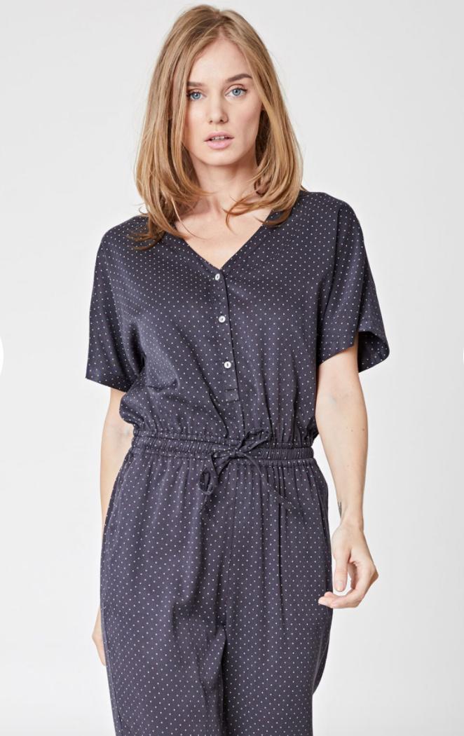 Merwin Spot Print Jumpsuit- $93