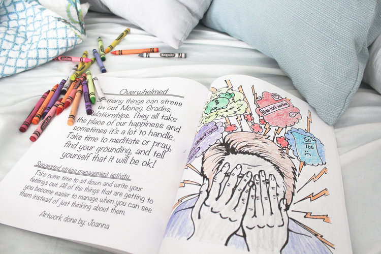 mental health coloring books for college students